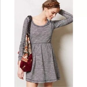 Saturday Sunday grey white marled dress